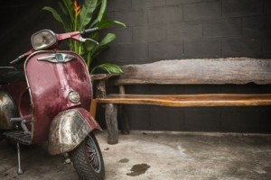 vintage motorbike for home decoration